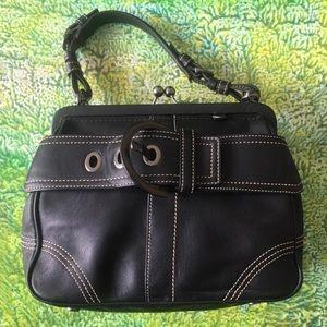 Vintage Black  Leather Coach Purse Handbag 👜